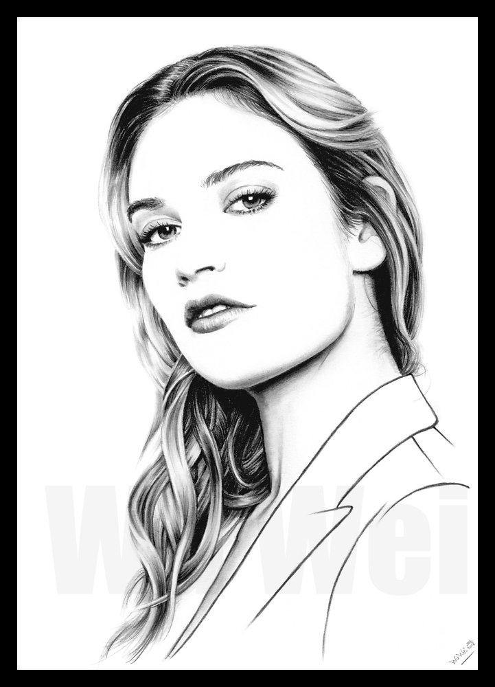 Lily James by wu-wei